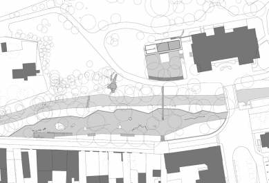 Obnova nábřeží řeky Loučné - Půdorys nábřeží - foto: Rusina Frei architekti