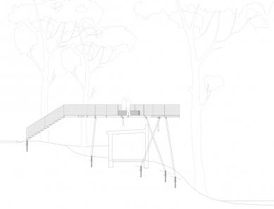 Obnova nábřeží řeky Loučné - Řez vyhlídkou - foto: Rusina Frei architekti