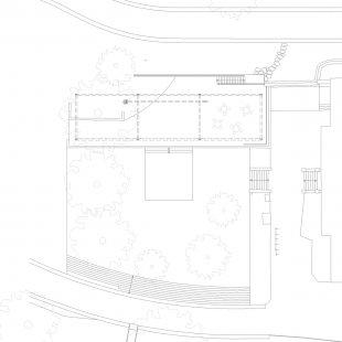 Obnova nábřeží řeky Loučné - Půdorys pavilonu - foto: Rusina Frei architekti