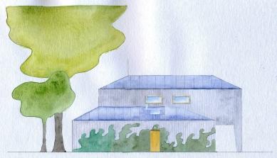 Dům ve Zličíně - Západní pohled - foto: Rusina Frei architekti