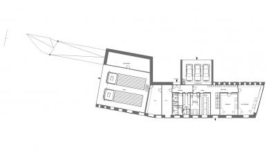 Administrativní budova ve Strančicích - Půdorys 1NP