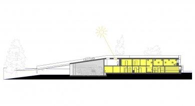 Administrativní budova ve Strančicích - Řez