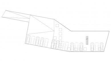 Administrativní budova ve Strančicích - Půdorys střechy