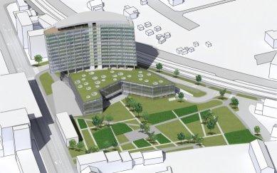 Štýrské mediální centrum - Vizualizace - foto: Architektur Consult ZT