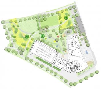 Štýrské mediální centrum - Půdorys přízemí - foto: Architektur Consult ZT
