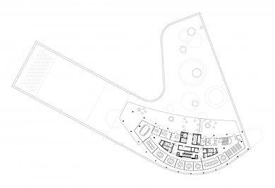Štýrské mediální centrum - Půdorys patra - foto: Architektur Consult ZT