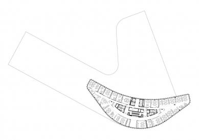 Štýrské mediální centrum - Půdorys typického podlaží - foto: Architektur Consult ZT
