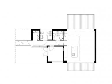 Rodinný dům v Halounech - Půdorys přízemí - foto: © Kamil Mrva Architects