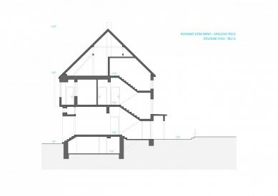 Rekonstrukce rodinného domu v Králově Poli - Řez - původní stav - foto: KAMKAB!NET