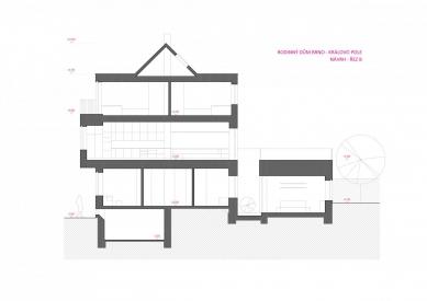 Rekonstrukce rodinného domu v Králově Poli - Řez - návrh - foto: KAMKAB!NET