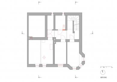 Rodinný dům v Českém Krumlově - 1PP - původní stav - foto: Pavlíček + Hulín architekti
