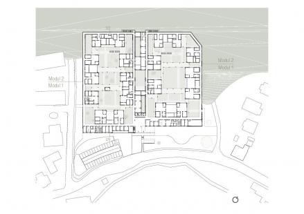 Mateřská škola KIBE - Půdorys přízemí - foto: © Gangoly & Kristiner Architekten