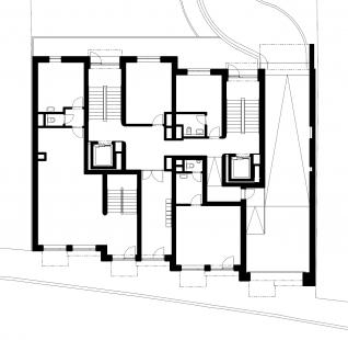 Bytový dům Domino - Půdorys 1NP