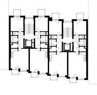 Bytový dům Domino - Půdorys 4NP