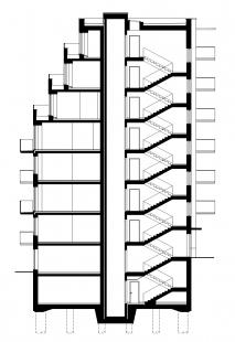 Bytový dům Domino - Řez