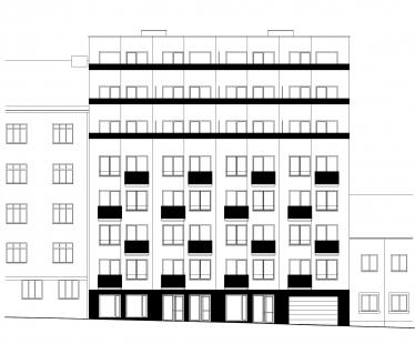 Bytový dům Domino - Uliční pohled