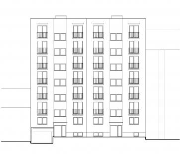 Bytový dům Domino - Pohled ze dvora