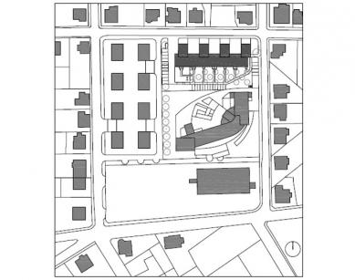 Dům s pečovatelskou službou - Situace - foto: Jiran Kouhout Architekti
