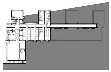Dům s pečovatelskou službou - Půdorys 1.pp - foto: Jiran Kouhout Architekti