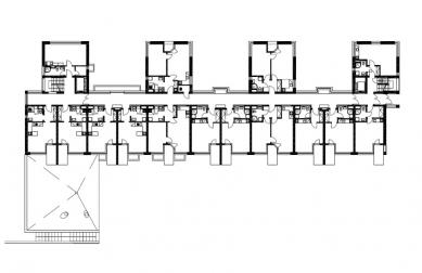 Dům s pečovatelskou službou - Půdorys 1.np - foto: Jiran Kouhout Architekti