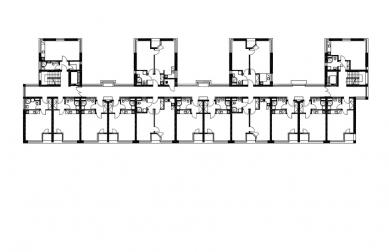 Dům s pečovatelskou službou - Půdorys 2.np - foto: Jiran Kouhout Architekti