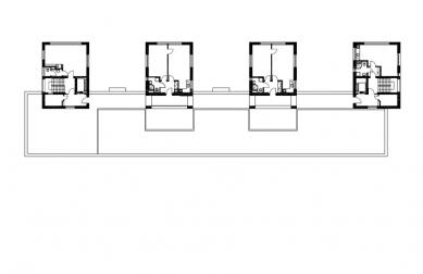 Dům s pečovatelskou službou - Půdorys 3.np - foto: Jiran Kouhout Architekti