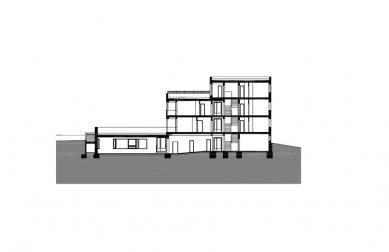 Dům s pečovatelskou službou - Řez - foto: Jiran Kouhout Architekti