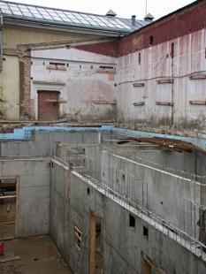 Rekonstrukce a dostavba Moderní galerie AVU - Fotografie z průběhu stavby - foto: Petr Šmídek, 2004