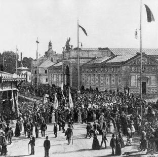 Rekonstrukce a dostavba Moderní galerie AVU - Pavilon v době Jubilejní výstavy zemské, 1891
