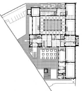 Rekonstrukce a dostavba Moderní galerie AVU - Půdorys - foto: © Jiran Kohout architekti