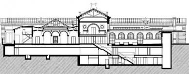 Rekonstrukce a dostavba Moderní galerie AVU - Řez - foto: © Jiran Kohout architekti