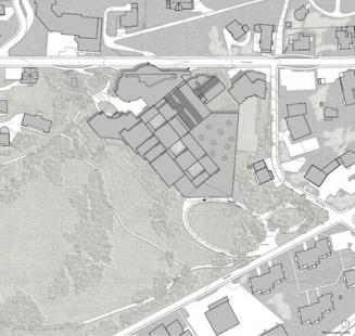 Rozšíření kongresového centra v Davosu - Situace - foto: Degelo Architekten