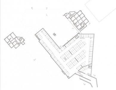 Rozšíření kongresového centra v Davosu - Půdorys suterénu - foto: Degelo Architekten