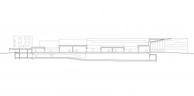 Rozšíření kongresového centra v Davosu - Řez - foto: Degelo Architekten