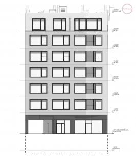 Bytový dům Nuselská - Uliční pohled