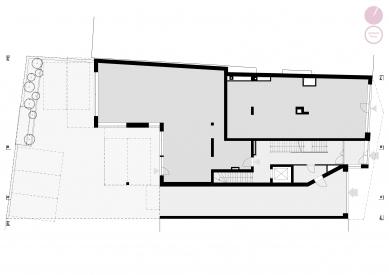 Bytový dům Nuselská - Půdorys 1NP