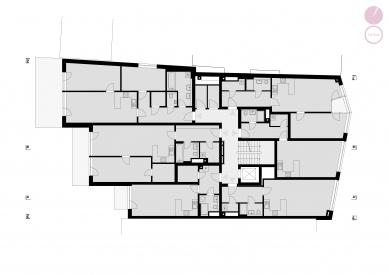 Bytový dům Nuselská - Půdorys 2NP