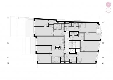 Bytový dům Nuselská - Půdorys 4NP