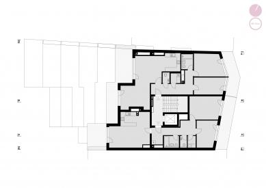 Bytový dům Nuselská - Půdorys 7NP
