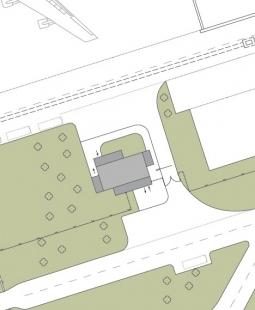 Vrátnice pro posádky Letiště - Praha - Situace - foto: © Jiran Kohout architekti