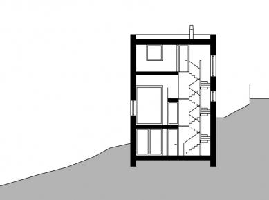 Dům věž - Řez