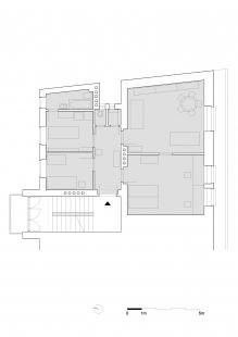 Vlastný ateliér Plusminus - Půdorys bytu - původní stav - foto: Plusminusarchitects