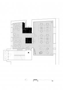 Vlastný ateliér Plusminus - Půdorys ateliéru - návrh - foto: Plusminusarchitects