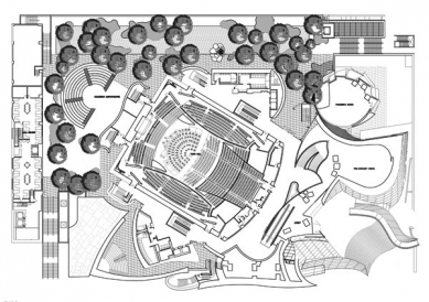 Walt Disney Concert Hall - Půdorys 2NP - foto: © FOG & Associates, Inc.