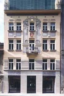 Rekonstrukce paláce Langhans - Pohled z Vodičkovy ulice - foto: Jan Malý