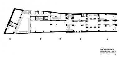 Rekonstrukce paláce Langhans - Půdorys přízemí - foto: Lábus AA