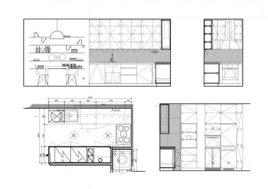 Korkový byt - Pohledy na stěny - foto: Formafatal