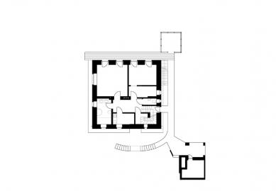 Rekonstrukce domu Na Hřebenkách - Půdorys 1PP