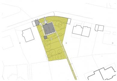 Rekonstrukce domu Na Hřebenkách - Situace
