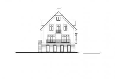Rekonstrukce domu Na Hřebenkách - Pohled jihovýchodní